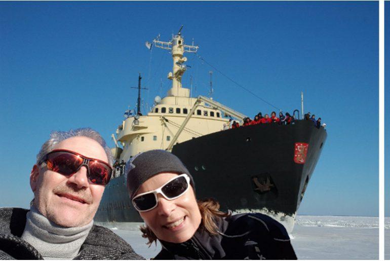 Icepack aheeaad ….. en route with an icebreaker