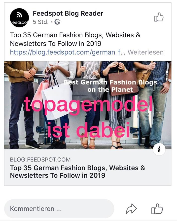 topagemodel ist unter den Top 35 German Fashion Blogs